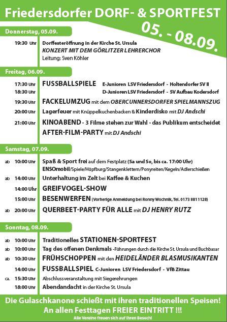 Programm Dorf- & Sportfest 2013
